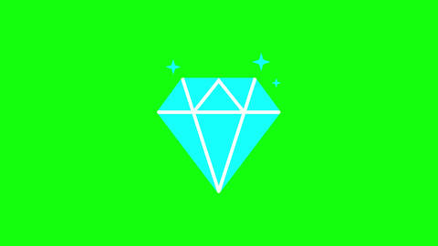 Blue diamond geometric jewel geometric gem geometric diamond icon jewel icon gem icon diamond luxury Animation