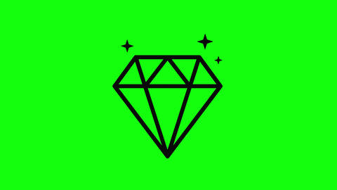 Black diamond geometric jewel geometric gem geometric diamond icon jewel icon gem icon diamond Animation