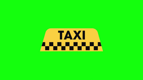 taxi icon cab icon signboard icon taxi service logo cab logo transport signboard logo taxi green Animation