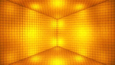 Broadcast Pulsating Hi-Tech Cubes Room Stage, Golden, Events, 3D, Loopable, 4K CG動画
