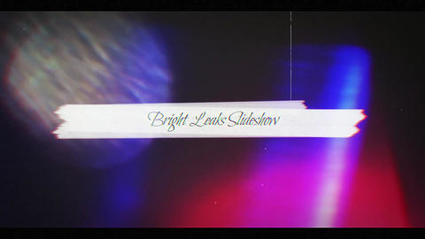 Bright Leaks Slideshow After Effects Template