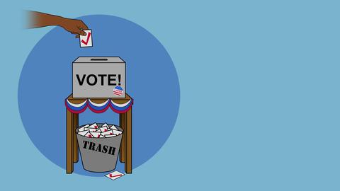 USA Election Rigging Voting Cartoon Animation Animation
