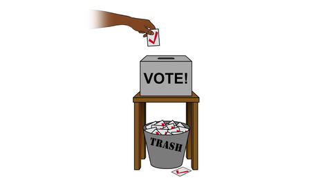Election Rigging Animation on White Animation