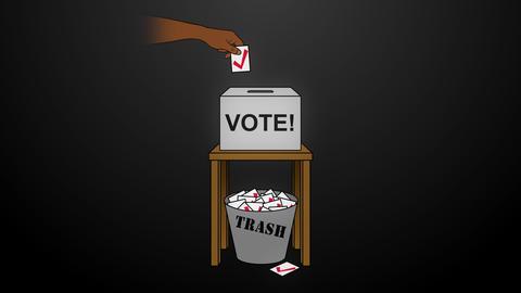 Election Rigging Animation on Black Animation