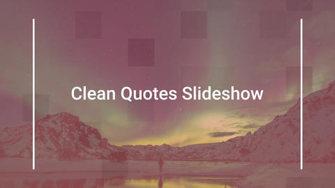 Quotes slideshow After Effects Template