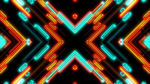 Abstract Neon Shapes Colorful VJ Visual Looping Background CG動画