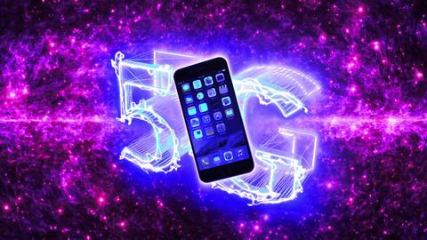 5G インターネット スマートフォン ネットワーク ループ アニメーション CG動画
