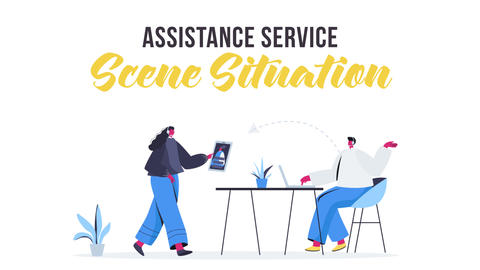 Assistance service - Scene Situation After Effects Template