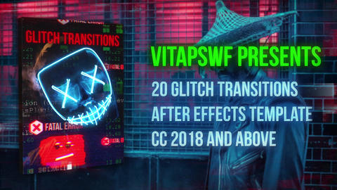 Error Glitch Transitions After Effects Template