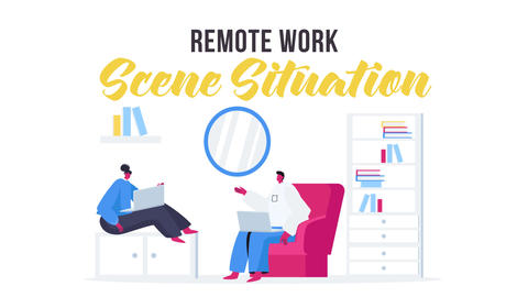 Remote work - Scene Situation After Effects Template
