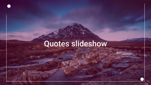 Qoutes Slideshow After Effects Template