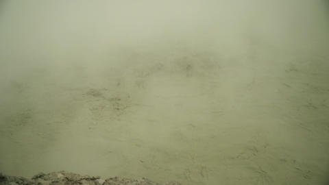 volcanic plateau with mud volcano I Live Action