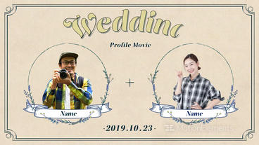 7 min Profile Movie Wedding After Effectsテンプレート