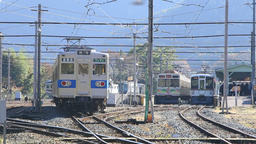 Station in Japan, a tourist destination in Chichibu Footage