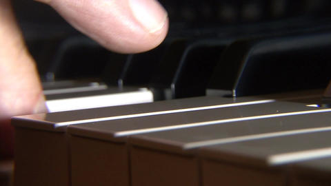 Piano key closeup Footage