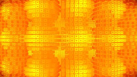 Broadcast Rotating Hi-Tech Cubes Grid Matrix, Gold, Technology, 3D, Loopable, 4K Animation