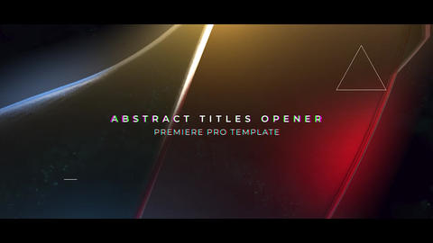 Abstract Titles Opener Premiere Proテンプレート