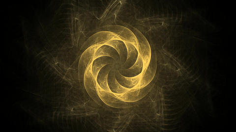 An abstract computer generated modern fractal design on dark background. Abstract fractal color Animation