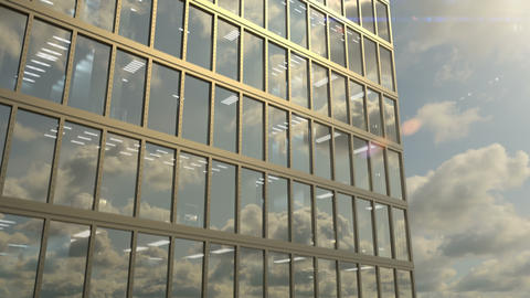Skyscraper exterior and windows of the high rise office building, seamless loop Live Action