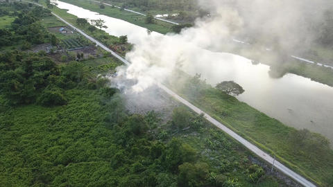 Open burning pollute the environment at Malaysia Live Action