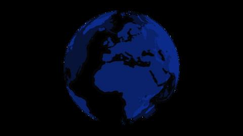 Translucent Earth-blue Animation