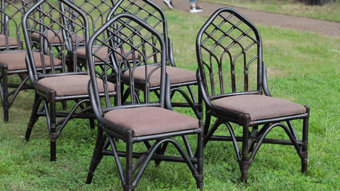 Beautiful chairs at the wedding ceremony Live Action