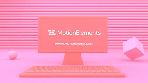 Pastel Workspace Logo Reveal After Effects Template