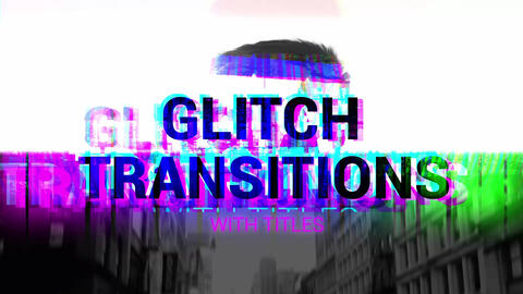 Glitch Transitions With Titles Premiere Proテンプレート