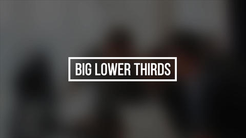 Big Lower Thirds After Effects Template