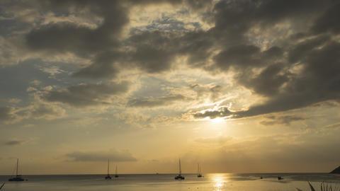 Scenic seascape timelapse on Phuket island at dusk Live Action