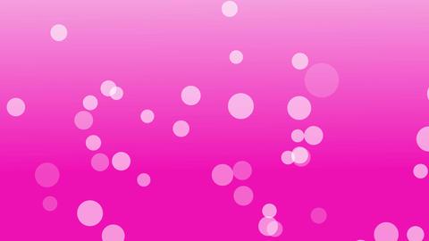 シャボンもしくは泡が下から上へとフワフワ昇っていく 背景ピンク CG動画