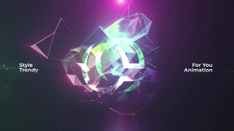 Neon Plexus Logo Reveal Apple Motion Template