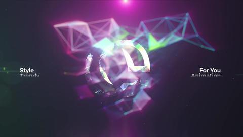 Neon Plexus Logo Reveal Plantilla de Apple Motion