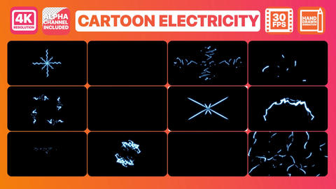 Cartoon Electricity After Effects Template