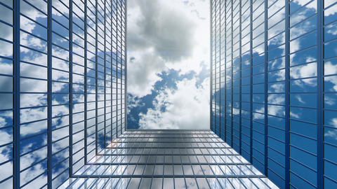 Business concept of office buildings and skyscrapers with many offices, loop Live Action