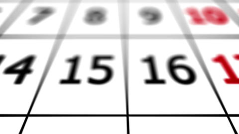 End of a month. 31st date on a calendar Animation