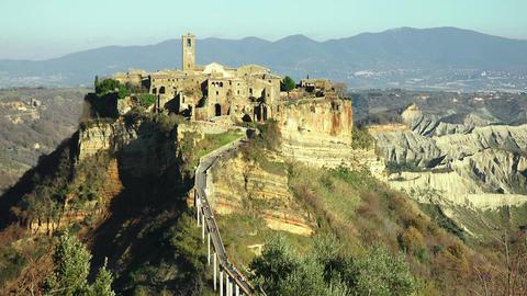 Italy, Civita di Bagnoregio landscape Footage