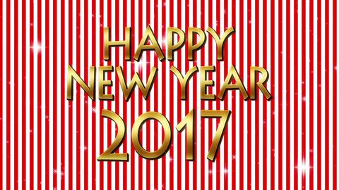 happy new year 2017 loop CG動画