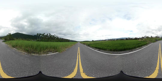 360VR video of ricefields at Gongyuan Road, Shoufeng Township Footage