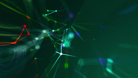 Abstract connection dots. Technology background. Network concept Animation