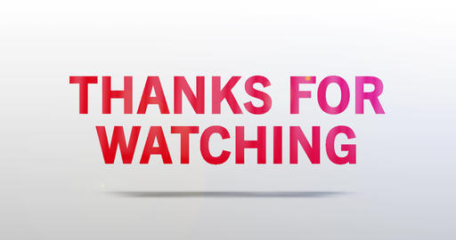 Thanks for watching. Particle Logo. Red Text Animation Animation