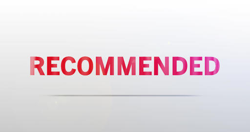Recommended. Particle Logo. Red Text Animation Animation