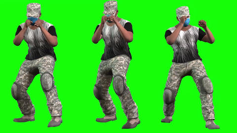 922 HD 3D animated afroamerican man in five action of boxing DIVERSITYP5BRIEF Animation