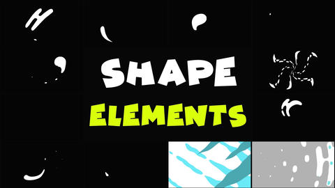 Shapes Elements Pack Motion Graphics Template