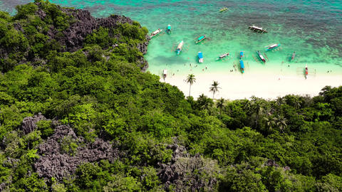 Caramoan Islands, Camarines Sur, Matukad. Philippines. Tropical island with a Live Action