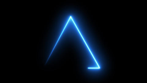 Neon blue electric light banner frame banner triangle banner Neon background frame background Animation