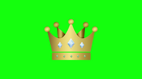 Color crown icon king icon gold icon crown royal monarchy king monarchy gold monarchy crown green Animation