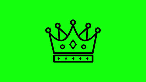 Black transparent crown icon king icon gold icon crown royal king monarchy gold monarchy crown green Animation