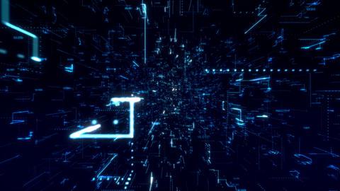DIgital Grid Structure Videos animados