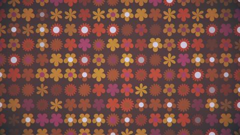 Retro 1970s Flower Pattern Background Animation